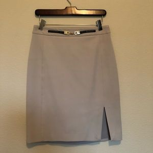 Express Pencil Skirt Neutral/Tan with Belt